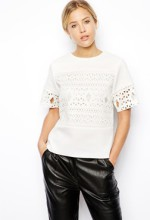 perforated white shirt